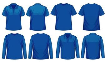 Set of Different Types of Shirt in Same Color vector