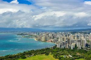 Aerial photograph of Honolulu photo