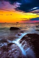 playa larga exposición amanecer foto