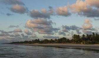 Sunrise in the beach photo