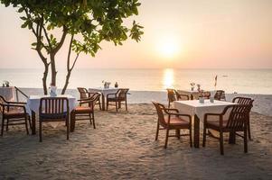 restaurante de playa foto