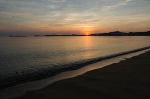 playa amanecer foto