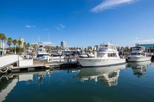 Long Beach Marina and city skyline, Long Beach, CA