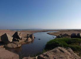 beach panorama sand ocean summer holiday chile la serena