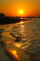 cattolica, región de Emilia Romagna, Italia, puesta de sol
