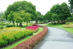 Parks Colourful Flowerbeds