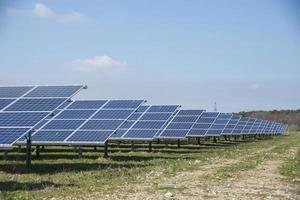 Long rows of solar panels in a Solar Park photo