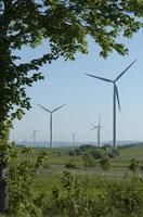 wind turbine generating power
