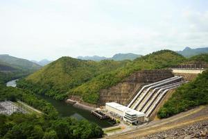 power station at the Srinakarin Dam in Thailand photo