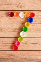 Colorful Number Bottle Caps