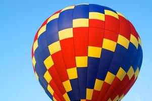hot air balloon of primary colors photo