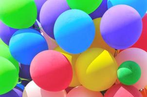 detail of party baloons cluster photo