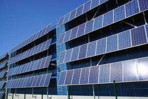 solar panel and renewable energy photo