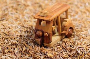 Wood car toy make shot