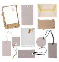 Blank cards, labels, price tags