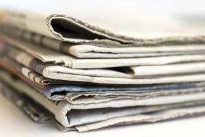 Newspaper stack photo