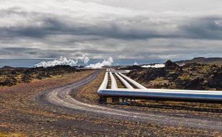 Geothermal power station, alternative energy, Iceland photo