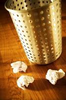 wastepaper basket photo