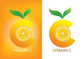Vitamin C icon for advertisement materials