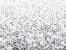 Triangle halftone pattern vector