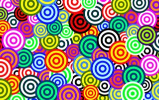 patrón de círculo colorido vector
