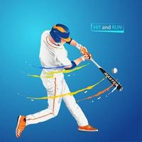 Baseball batter hitting ball design  vector