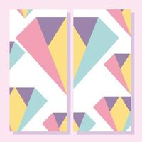 Abstract shapes. 80s Memphis geometric style placard
