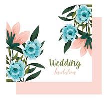 adorno de boda floral decorativo tarjeta de felicitación o invitación