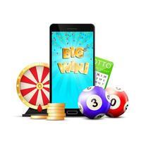 Lottery mobile app design  vector
