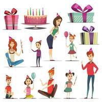 set de cumpleaños para niños vector