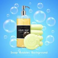 Soap Bubbles Background vector