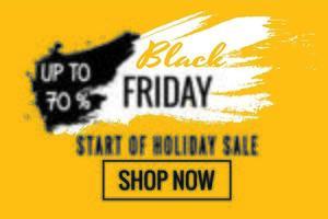 cartel de venta de vacaciones de viernes negro amarillo