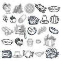 A set of Thanksgiving elements vector