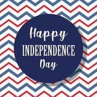 Independence Day theme with zig zag background