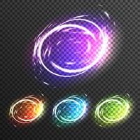 efectos de luz destellos transparentes vector