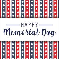 Red and blue stars background of Memorial Day