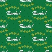 Thanks with herbs Thanksgiving seamless pattern