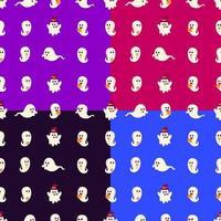 fantasma colorido, halloween, seamless, patrón vector