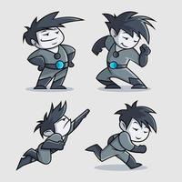 lindo diseño de personaje de dibujos animados de superhéroe
