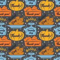 Happy Thanksgiving Day elements seamless pattern