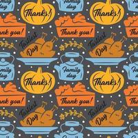 feliz día de acción de gracias elementos de patrones sin fisuras