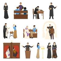 Set of religious characters