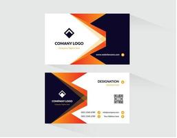 Orange and Blue with White Business Card Template vector