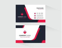 Red with Black Business Card Template