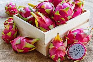 Dragon fruits.
