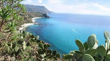 View of ocean at Capo Vaticano, Calabria, Italy