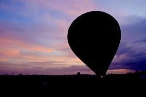 Hot air balloon silhouette