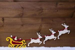 Santa Claus Sled With Reindeer, Snow