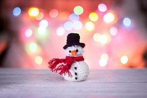 Snowman and bokeh