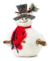 snowman toy isolated on the white background